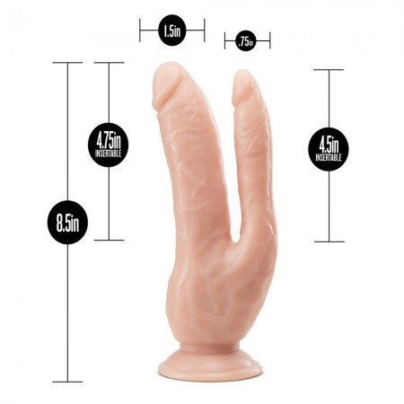 Dr. Skin Dual 8 Inch Dual Penetrating Dildo With Suction Cup